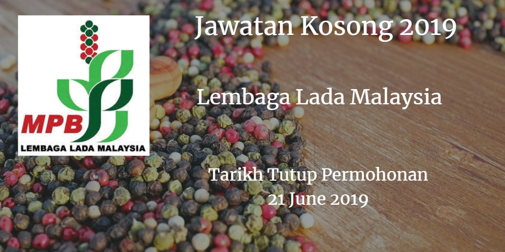 Jawatan Kosong Lembaga Lada Malaysia 23 June 2019
