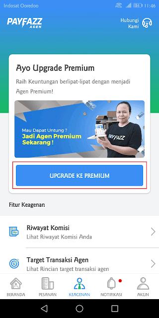 pilih upgrade ke premium