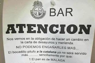 UN BAR ANDALÚS DEIXA DE VENDRE EL SEU ENTREPÀ A LA CATALANA