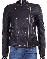 Geaca Zara Dama Buttonned Faux Leather (Zara)