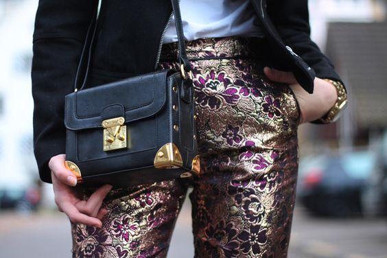6483cc12698b Chic and Silk  GET INSPIRED  Brocade Παντελόνι! Πως Να Το Φορέσετε