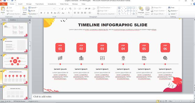 cara membuat infografis di PPT