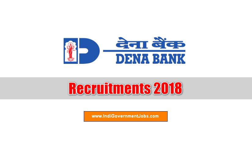 Dena Bank Recruitment 2018