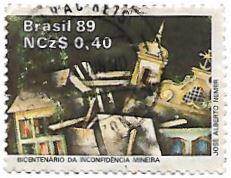 Selo Bicentenário da Inconfidência Mineira
