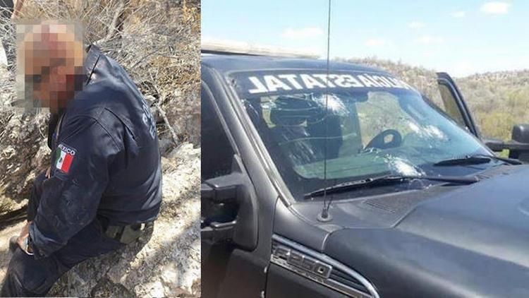 Fotos Madrugan a estatales en Sonora, Sicarios emboscan y rafaguean camioneta blindada donde viajaban dos elementos