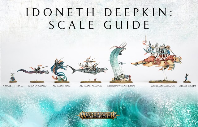 Idoneth Deepkin Model Size Comparison