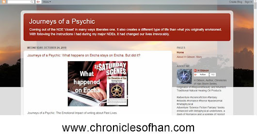 Journeys of a Psychic, Blog by H Gibson, Author of The Chronicles of Han Storm
