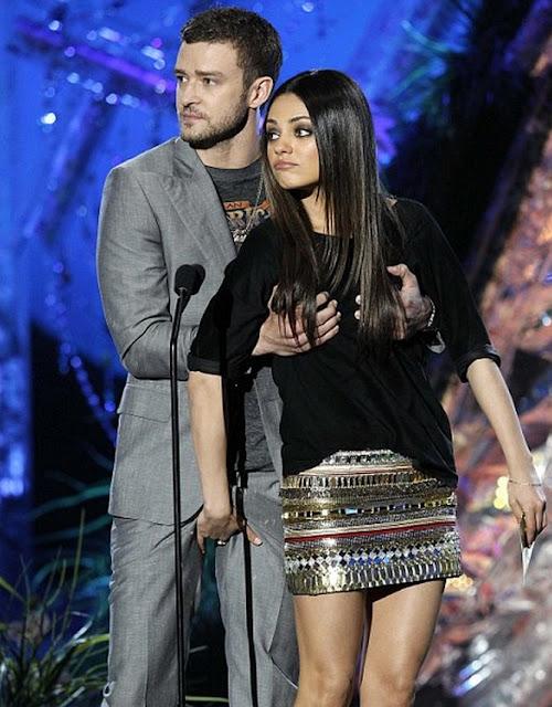 2011 MTV Movie Awards: Justin Timberlake Grabs Mila Kunis