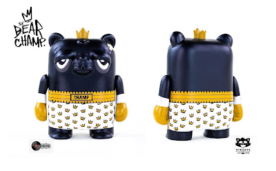"Strange Cat Toys Exclusive The Bearchamp 4"" Vinyl Figure by JC Rivera x UVD Toys"