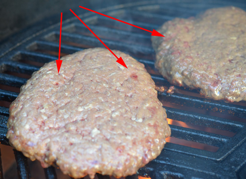 How do you know when to flip a grilled burger.