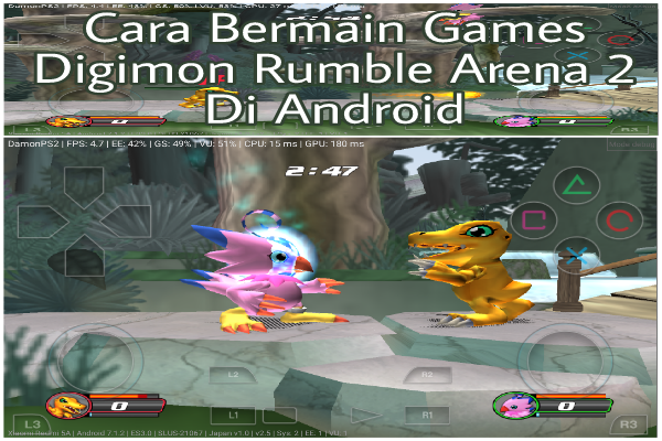 Cara Bermain Digimon Rumble Arena 2 PS2 Di Android