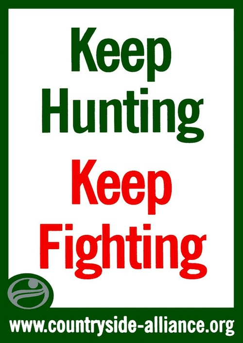 save foxhunting British politics poster