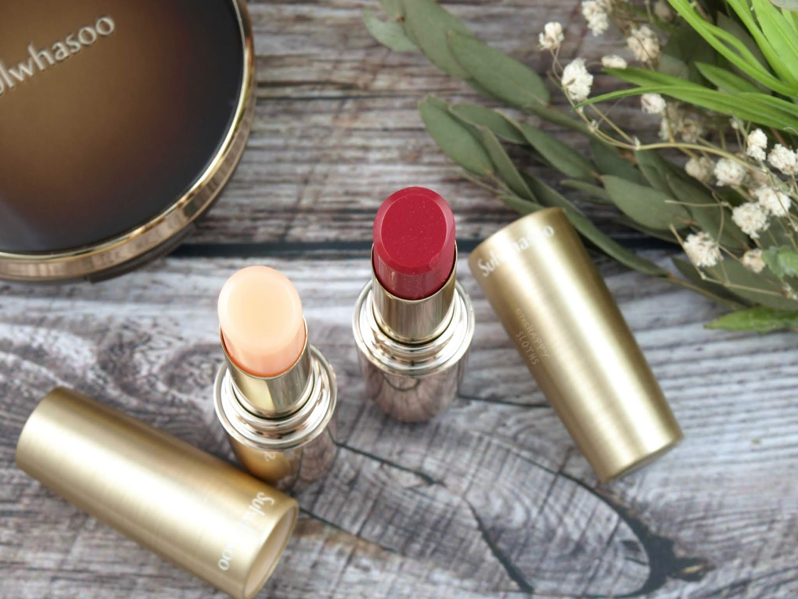 "Sulwhasoo | Essential Lip Serum Stick in ""No. 2 Blossom Serum"" & ""No. 7 Deep Berry"": Review and Swatches"