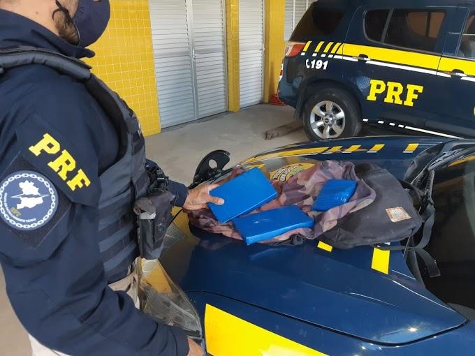 PRF encontra quase três quilos de cocaína com passageiro da linha Porto Alegre/Dom Pedrito