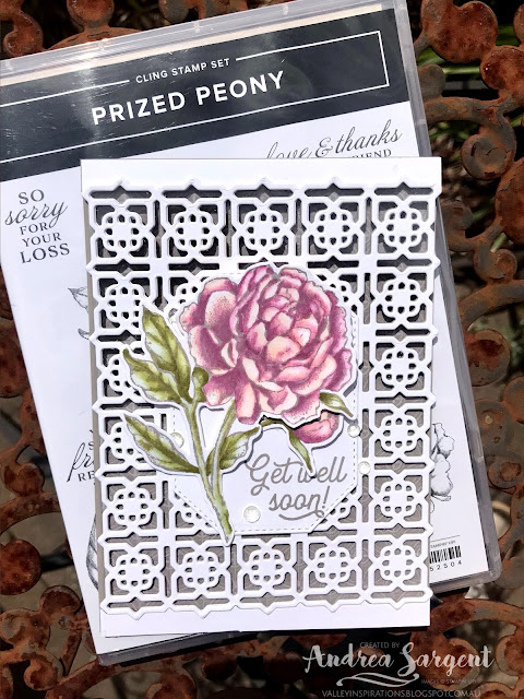 Gray Granite Prized Peony Stampin Up cards, Andrea Sargent, Independent Stampin' Up! Demonstrator, Valley Inspirations, Adelaide Foothills, South Australia, Australia