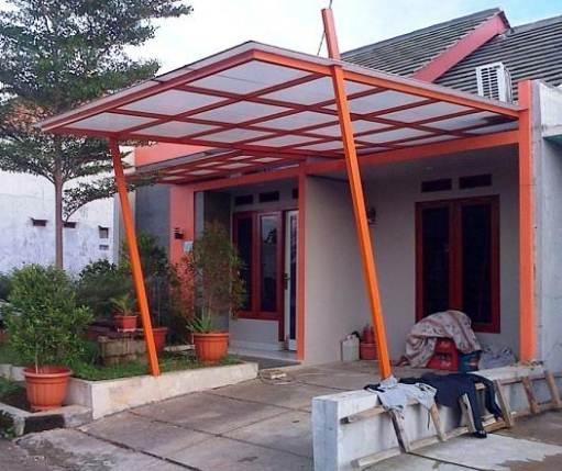 Tampak Depan Rumah Minimalis Dengan Kanopi Desain modern