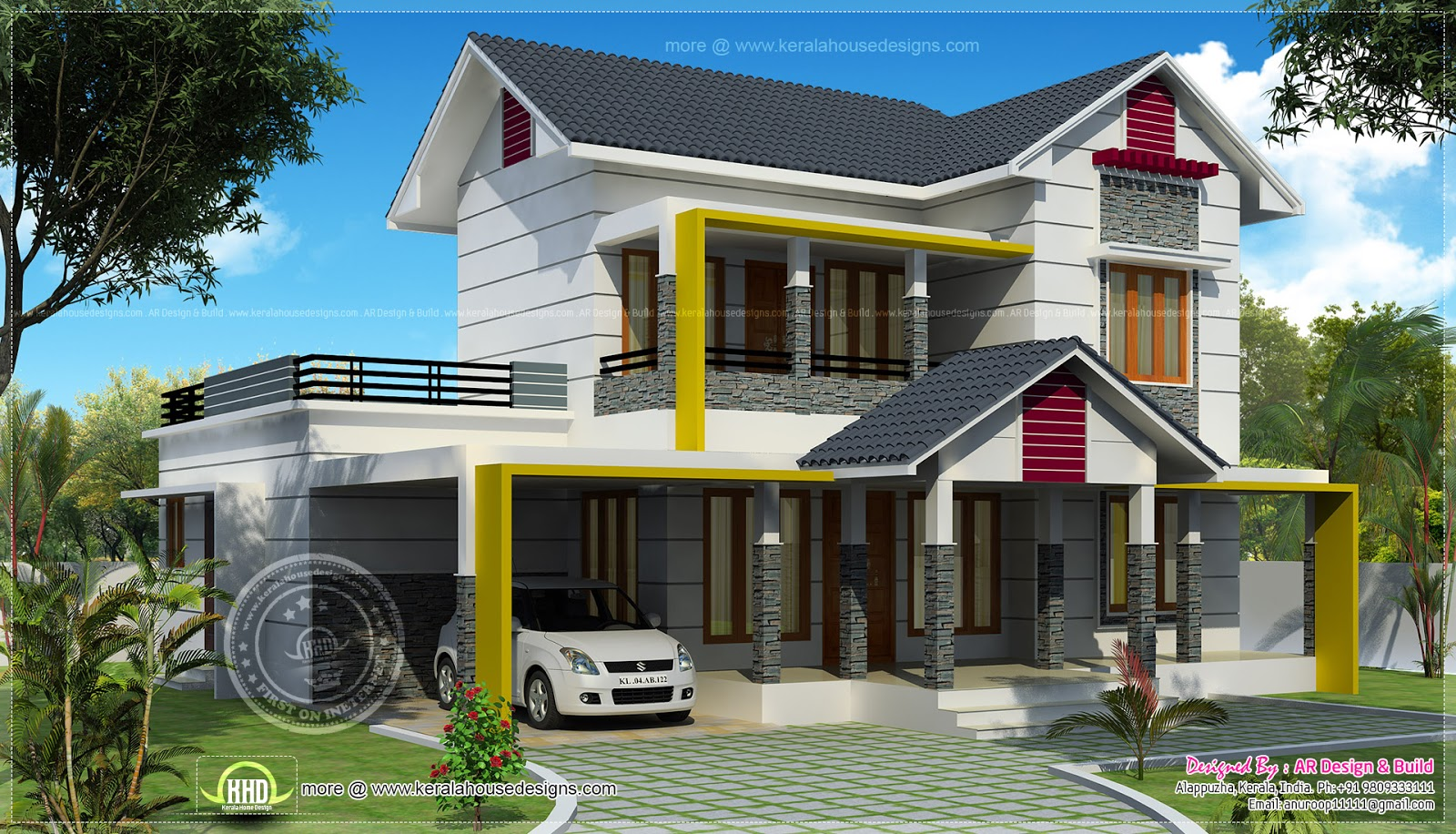 2300 Sq Feet Residence Elevation Kerala Home Design And