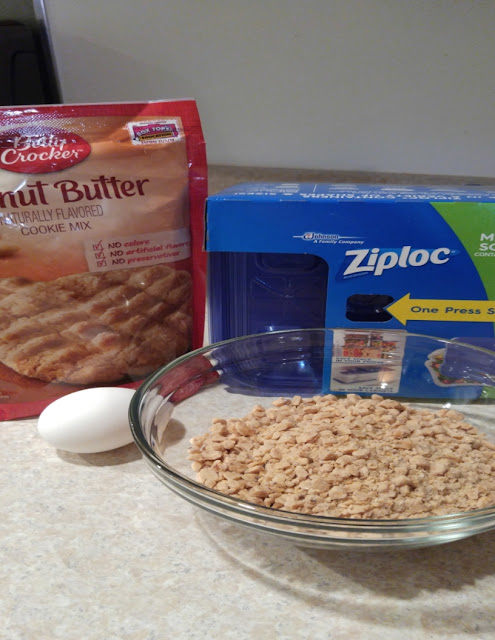 Simple ingredients to make Peanut Butter Toffee Cookies