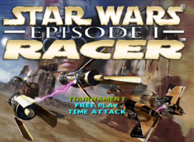 Star Wars Episode I: Racer title screen Nintendo 64