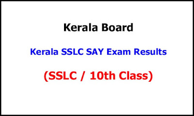 Kerala SSLC SAY Results