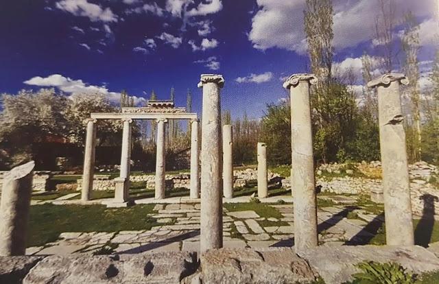 Aizanoi Antik Kenti sütunlar ion