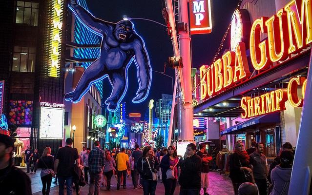 Universal CityWalk no Universal Studios Hollywood em Los Angeles