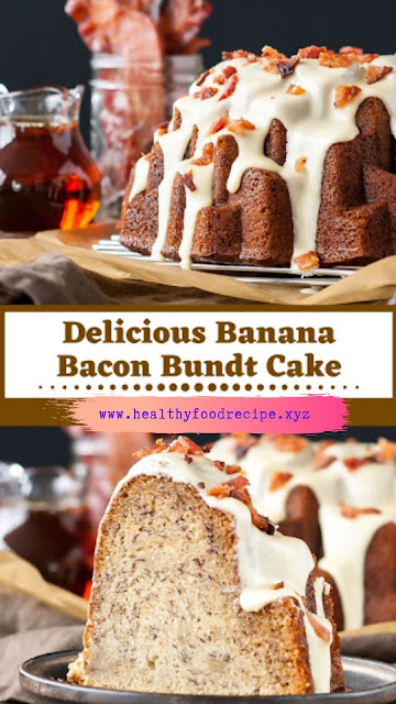Delicious Banana Bacon Bundt Cake