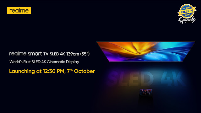 Realme will launch 55-inch SLED TV and Realme 7i in India