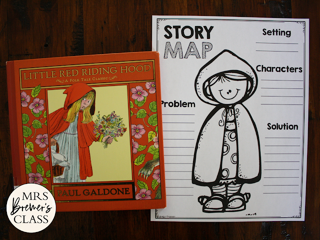 Little Red Riding Hood Fairy Tales activities unit with Common Core aligned literacy companion activities for First Grade and Second Grade