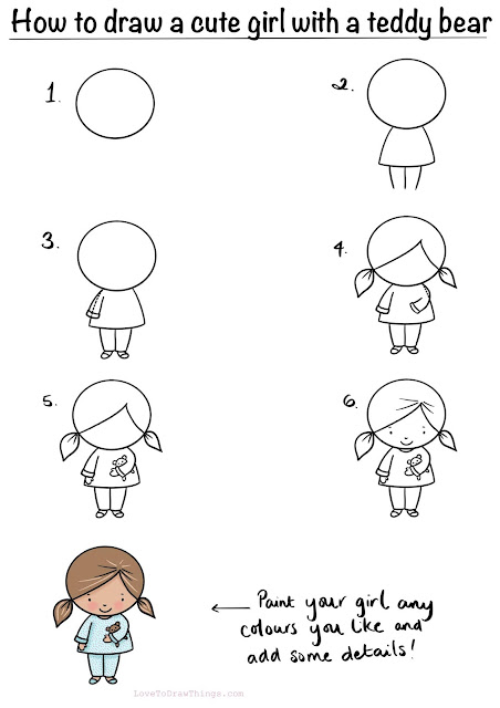Easy step by step drawing tutorial for beginners