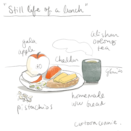 food diary, drawing, illustration, sketchbook, connie sun, cartoonconnie