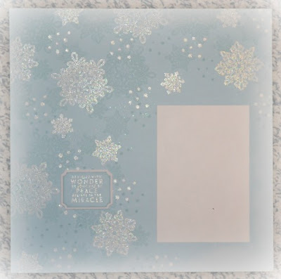 Flurry of Wishes, Stampin' Up!, Stamp with Trude, scrapbook page, winter, Christmas, snowflakes, Scrapbook Sunday