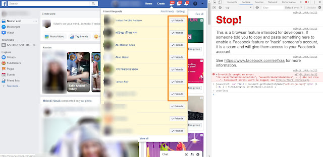 How to accept all Facebook friend requests in One Click with  Windows+Android 2019