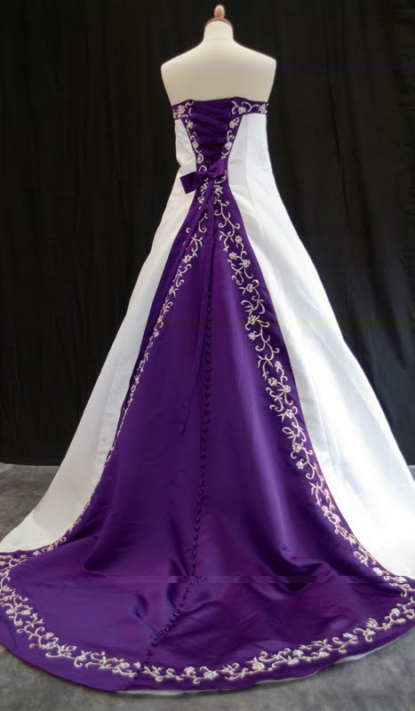 Modern Purple Wedding Dress