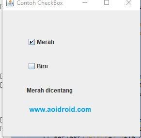 tes aplikasi dengan checkbox 1