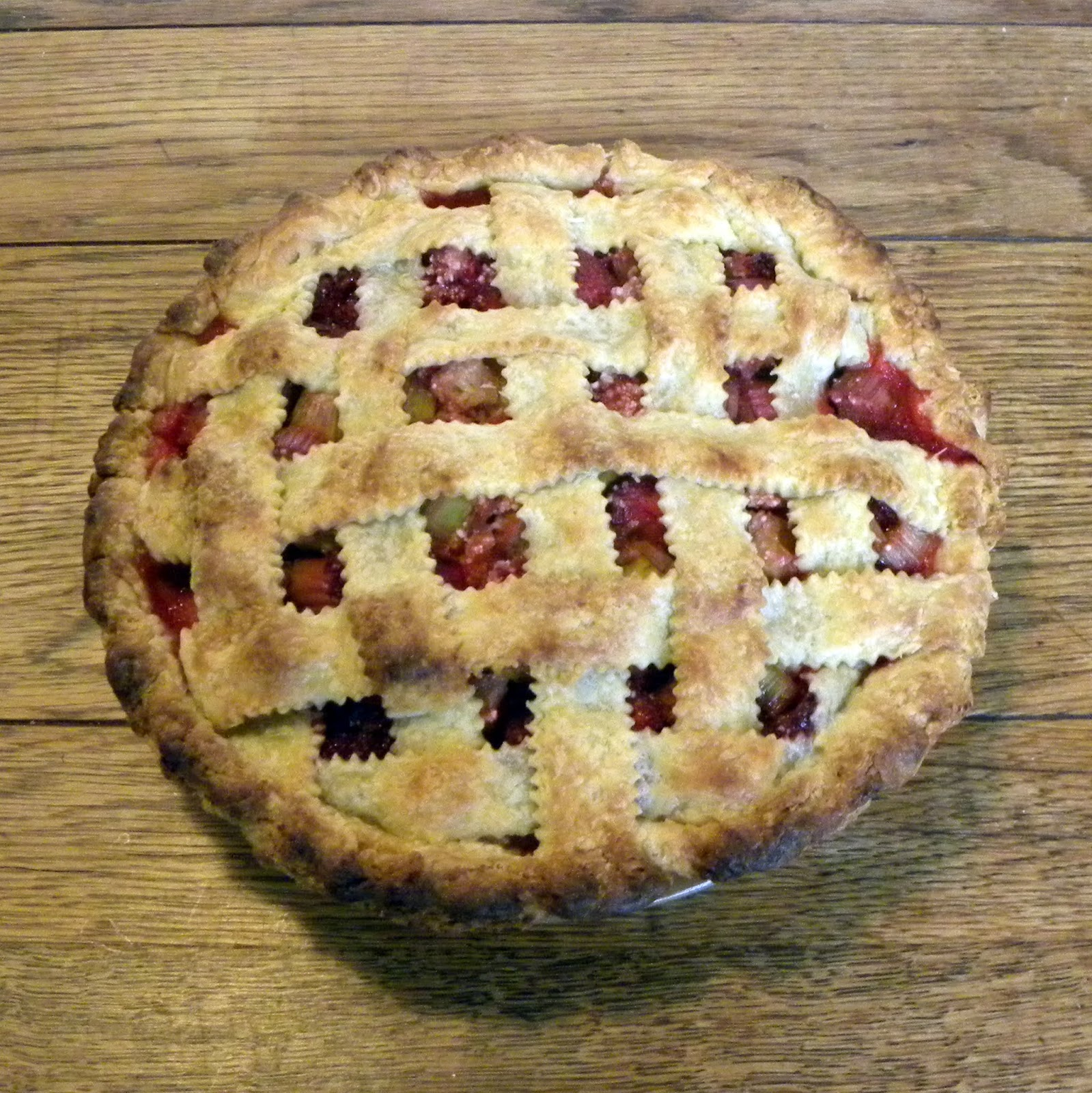 Cook's Cache: Best Ever Strawberry Rhubarb Pie/Strawberry