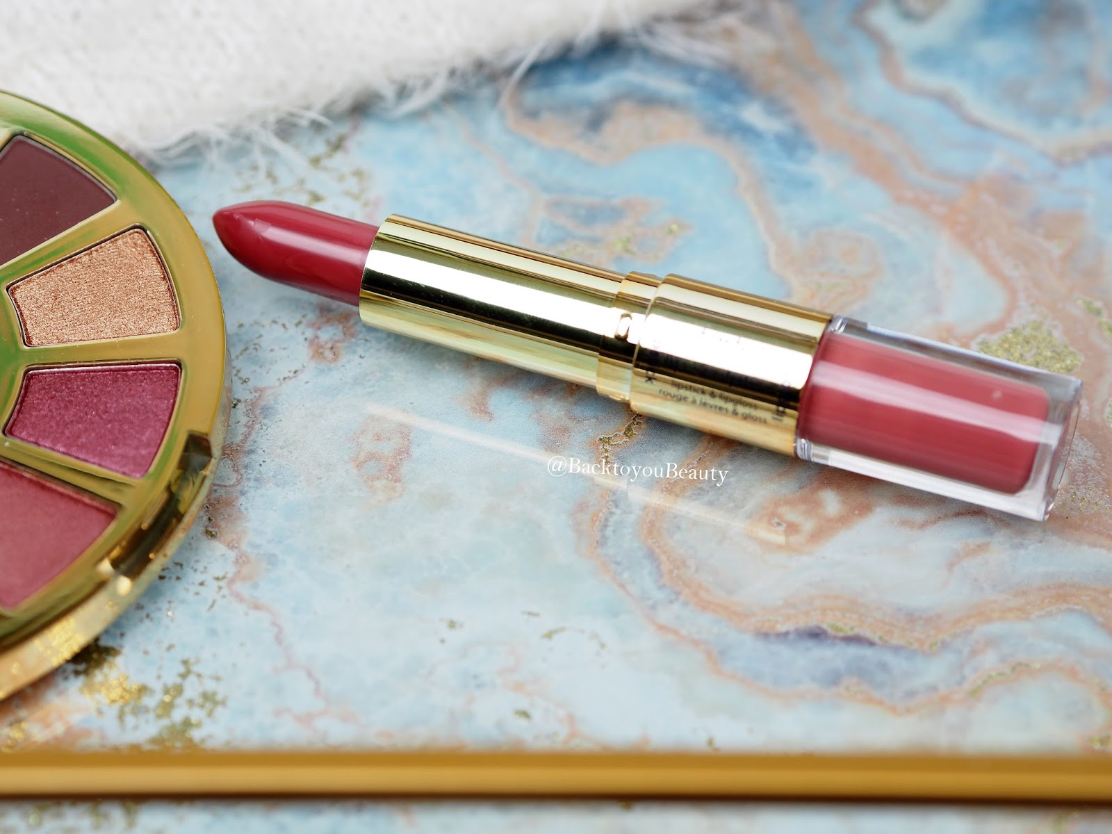 Tarte Lip Sculptor Lipstick and Lipgloss in Sass