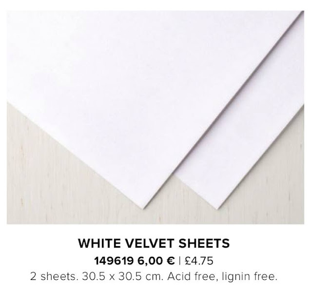 White Velvet Sheets by Stampin' Up!