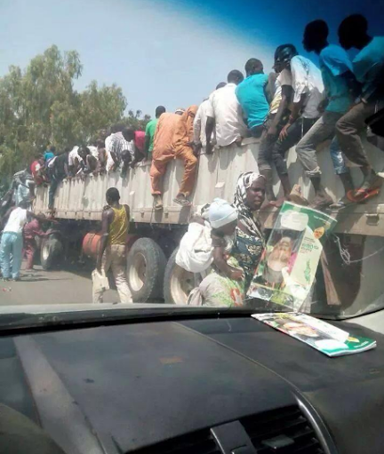 PHOTOS:  Of Nigerians Running For Their Lives After Boko Haram Attack [See Photos]