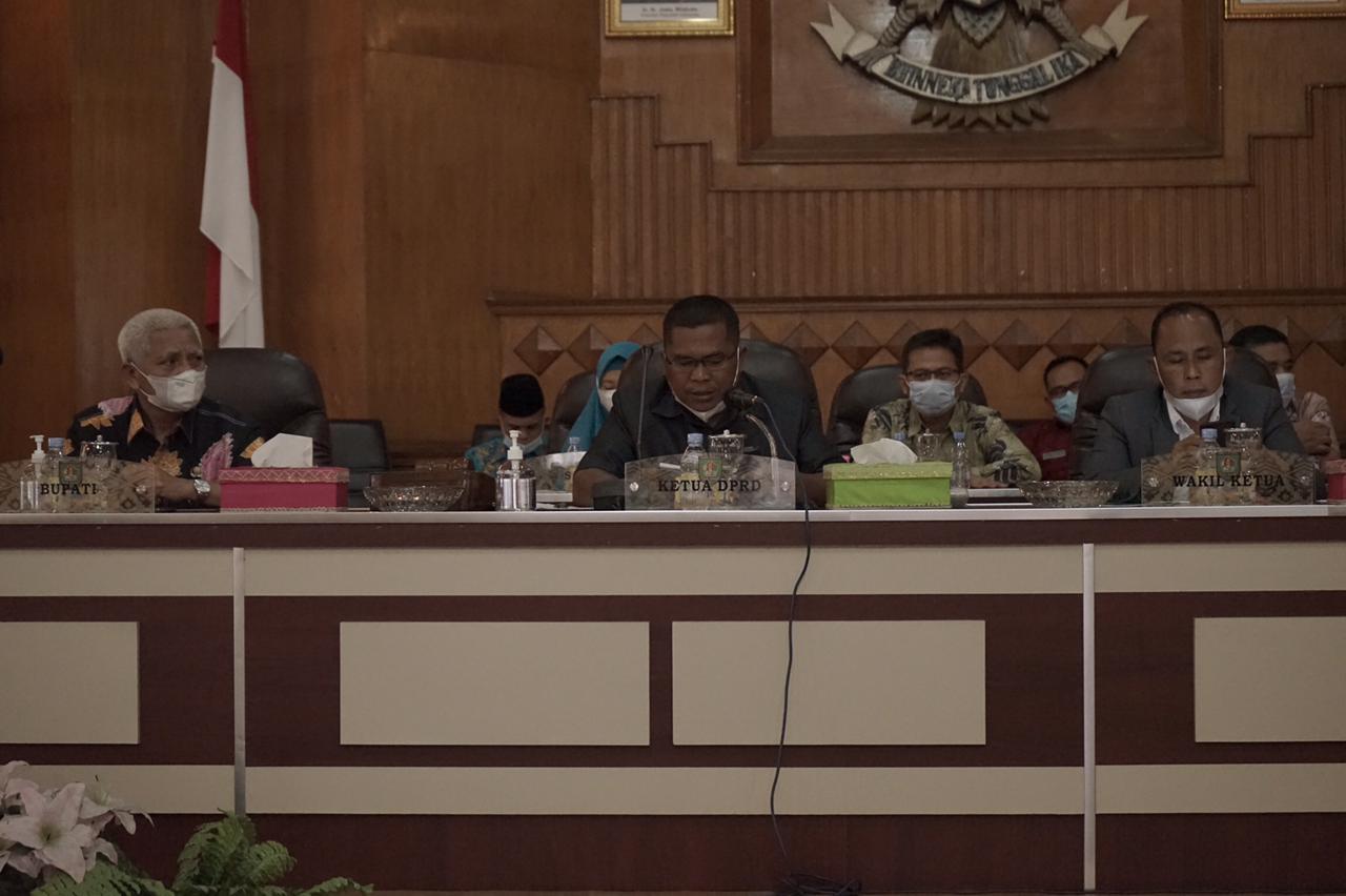 Bupati Asahan Menyampaikan Jawaban atas Pandangan Umum Fraksi terhadap LKPJ Tahun Anggaran 2020
