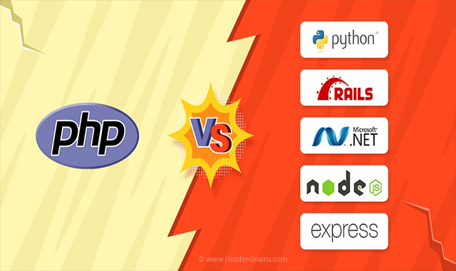 Comparing PHP with Python, RoR, ASP.NET, Node.js and Express.js #infographic