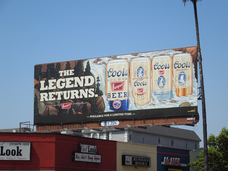 Coors Golden Beer billboard