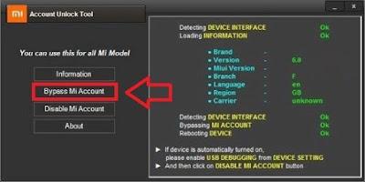 Cara bypass akun Mi 2