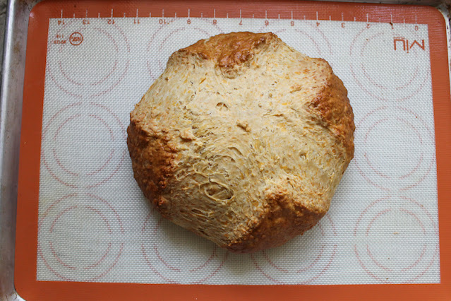 Food Lust People Love: Cheddar Smoked Paprika Soda Bread is cheesy good with a subtle smoky flavor that is great freshly sliced or toasted. Use it for sandwiches or to dip in a sunny side up fried egg yolk. So good!