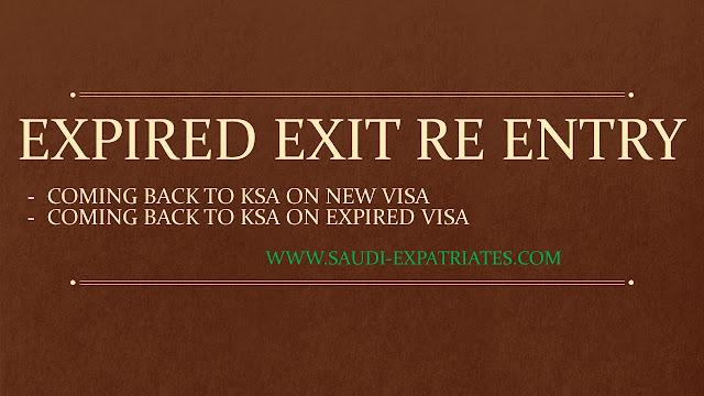 EXPIRED SAUDI EXIT REENTRY VISA