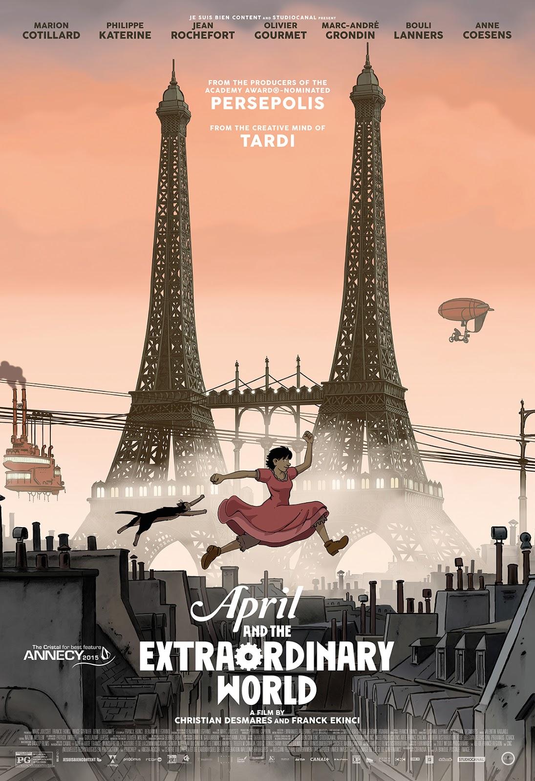 Abril e o Mundo Extraordinário Dublado
