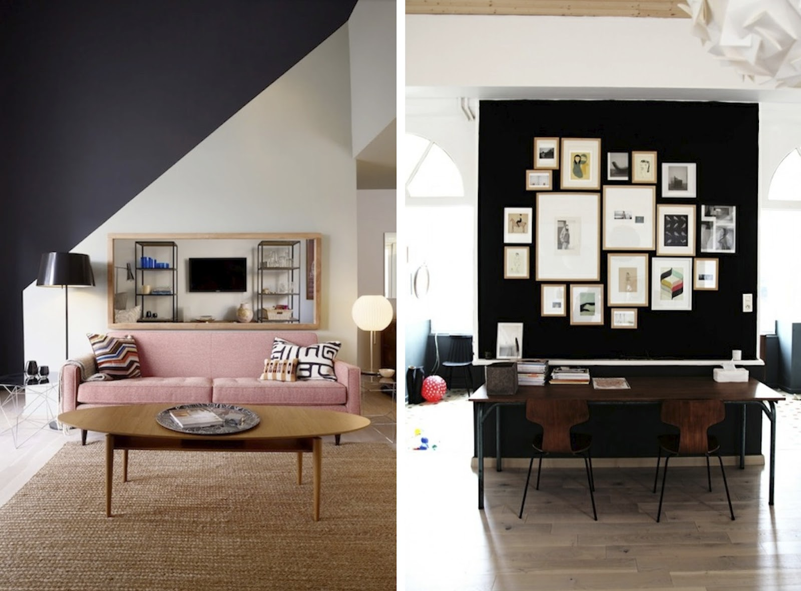 Black Accent Walls Black White Yellow Inspiration Black Walls
