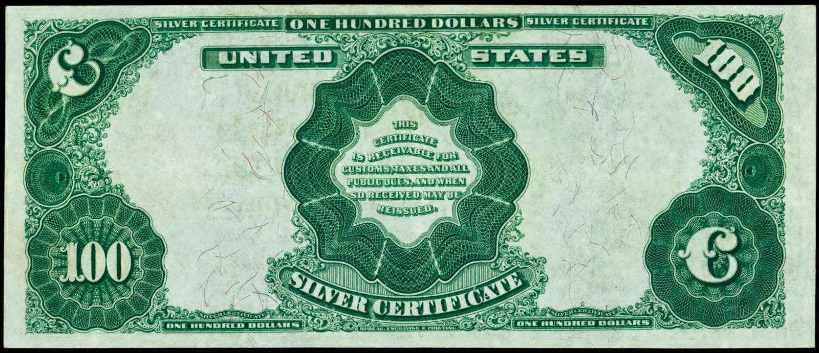 American money 100 Dollars Large-Size Silver Certificates