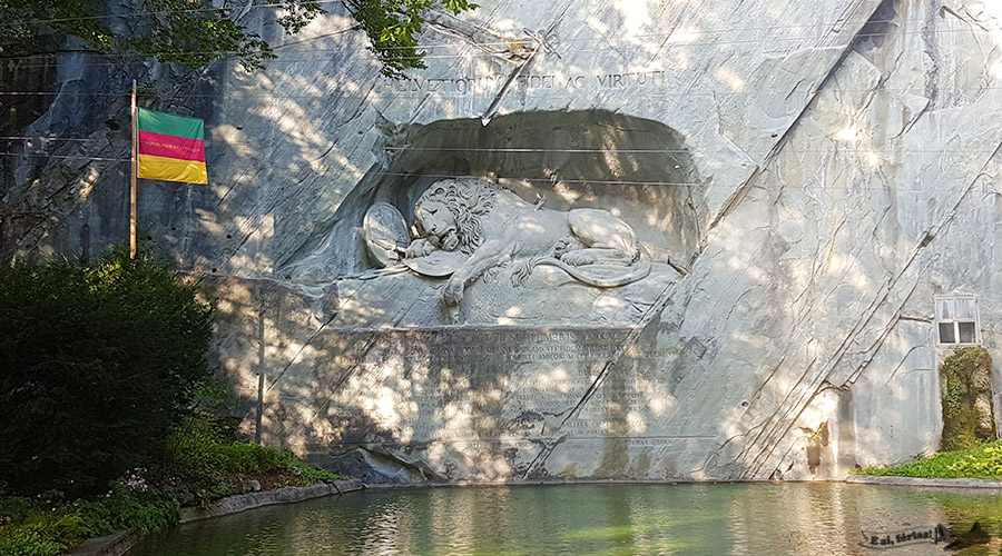 Das Löwendenkmal, Lucerna, Suíça