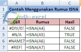 rumus Excel ISNA